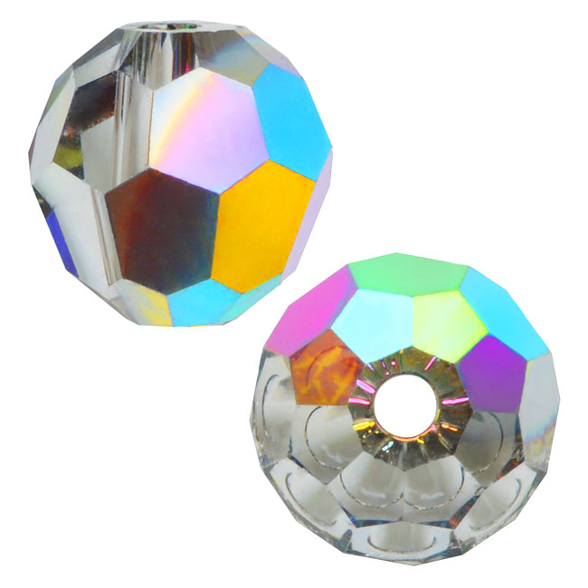 Swarovski Crystal, #5000 Round Beads 6mm, 10 Pieces, Vitrail Medium