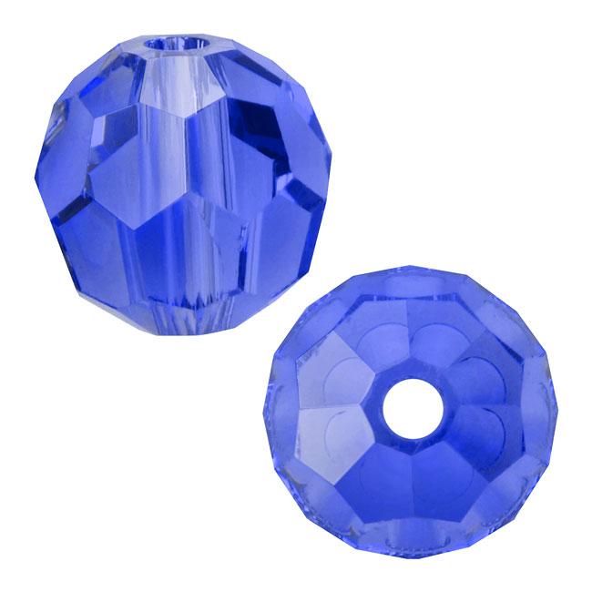 Swarovski Crystal, #5000 Round Beads 6mm, 10 Pieces, Sapphire