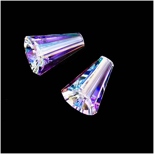 Swarovski Crystal, #5540 Artemis Cone Beads 12mm, 2 Pieces, Crystal AB