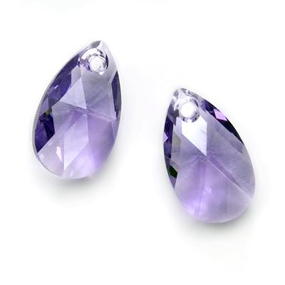 Swarovski Crystal, #6106 Pear Pendant 16mm, 2 Pieces, Tanzanite