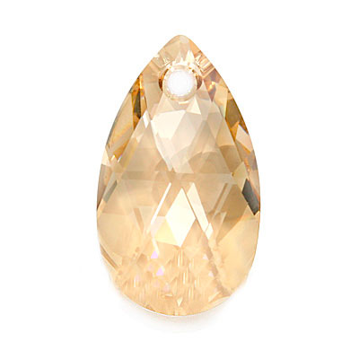 Swarovski Crystal, #6106 Pear Pendant 38mm, 1 Piece, Crystal Golden Shadow