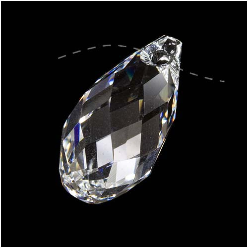 Swarovski Crystal, #6010 Briolette Pendant 21x10.5mm, 1 Piece, Crystal