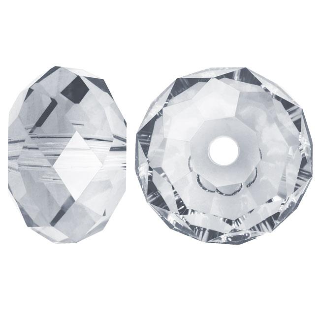 Swarovski Crystal, #5040 Rondelle Beads 6mm, 10 Pieces, Crystal