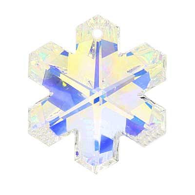 Swarovski Crystal, #6704 Snowflake Pendant 25mm, 1 Piece, Crystal AB