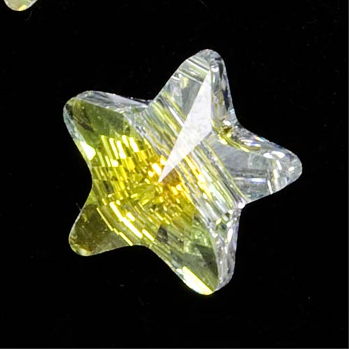Swarovski Crystal, #5714 Star Beads 8mm, 6 Pieces, Crystal AB