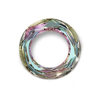 Swarovski Crystal, #4139 Cosmic Ring Pendant 20mm, 1 Piece, Crystal Vitrail Light