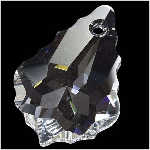 Swarovski Crystal, #6090 Baroque Pendant 22x15mm, 1 Piece, Crystal