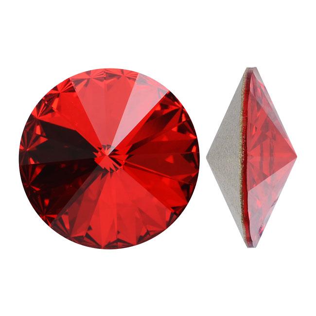 Swarovski Crystal, #1122 Rivoli Fancy Stones 12mm, 4 Pieces, Lt Siam Foiled