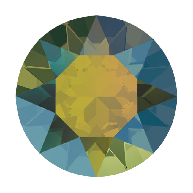 Final Sale - Swarovski Crystal, #1088 Xirius Round Stone Chatons pp14, 40 Pieces, Iridescent Green F