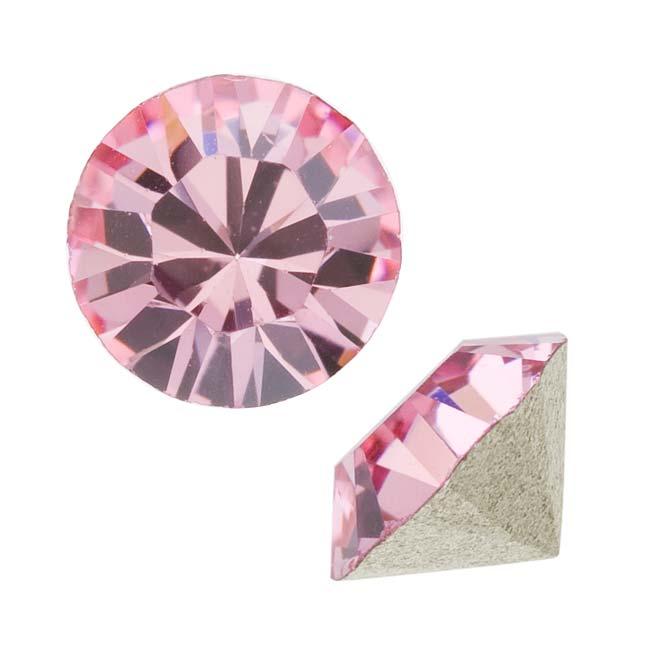 Swarovski Crystal, #1088 Xirius Round Stone Chatons ss39, 6 Pieces, Lt Rose