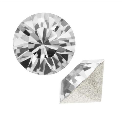 Swarovski Crystal, #1088 Xirius Round Stone Chatons ss39, 6 Pieces, Crystal F
