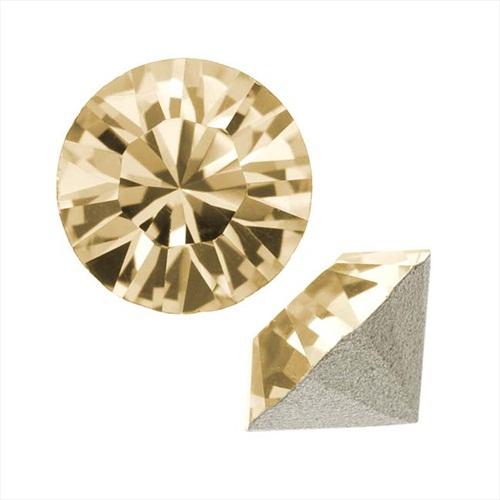 Swarovski Crystal, #1088 Xirius Round Stone Chatons ss39, 6 Pieces, Golden Shadow F