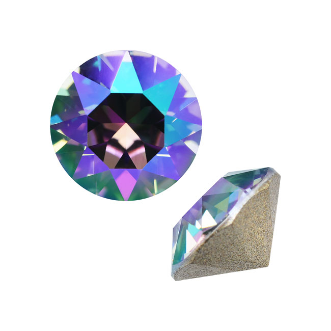 Swarovski Crystal, #1088 Xirius Round Stone Chatons ss39, 6 Pieces, Paradise Shine