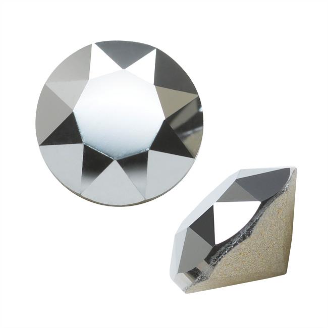 Swarovski Crystal, #1088 Xirius Round Stone Chatons ss39, 6 Pieces, Crystal Light Chrome F