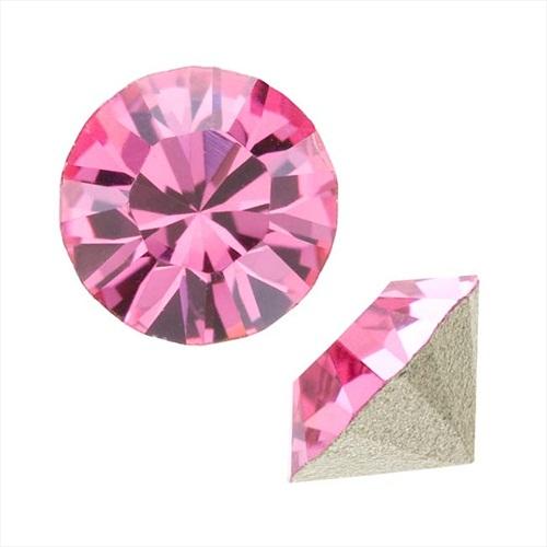 Swarovski Crystal, #1088 Xirius Round Stone Chatons ss39, 6 Pieces, Rose