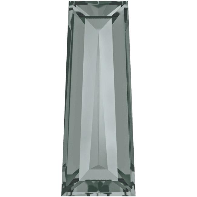 Final Sale - Swarovski Crystal, #4503 Tapered Baguette Fancy Stones 4x2mm, 4 Pcs, Black Diamond F