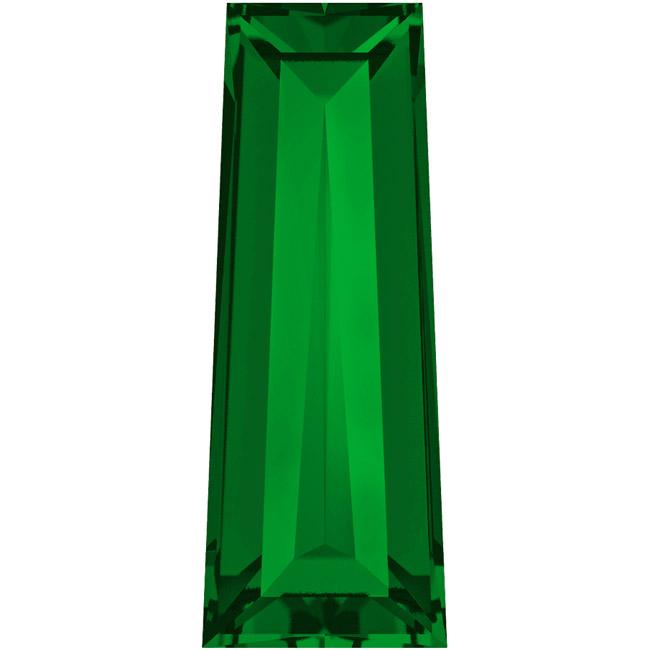 Final Sale - Swarovski Crystal, #4503 Tapered Baguette Fancy Stones 4x2mm, 4 Pcs, Dark Moss Green F