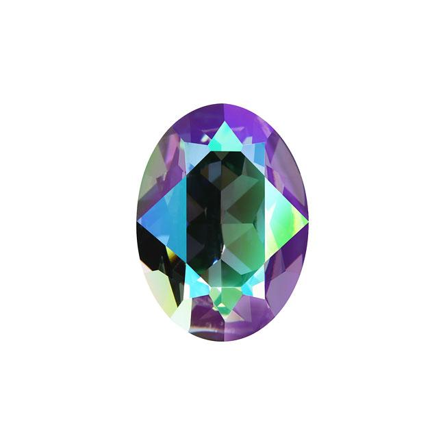 Swarovski Crystal, #4120 Oval Fancy Stones 18x13mm, 1 Piece, Crystal Paradise Shine F