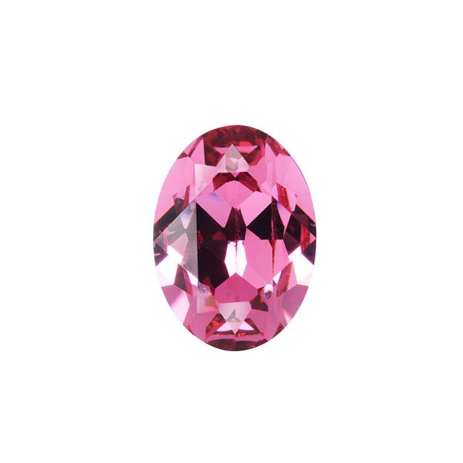 Swarovski Crystal, #4120 Oval Fancy Stones 14x10mm, 1 Piece, Rose F