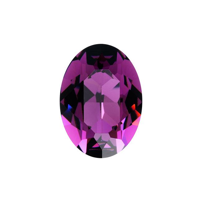 Swarovski Crystal, #4120 Oval Fancy Stones 18x13mm, 1 Piece, Amethyst F