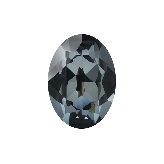 Swarovski Crystal, #4120 Oval Fancy Stones 18x13mm, 1 Piece, Crystal Silver Night F