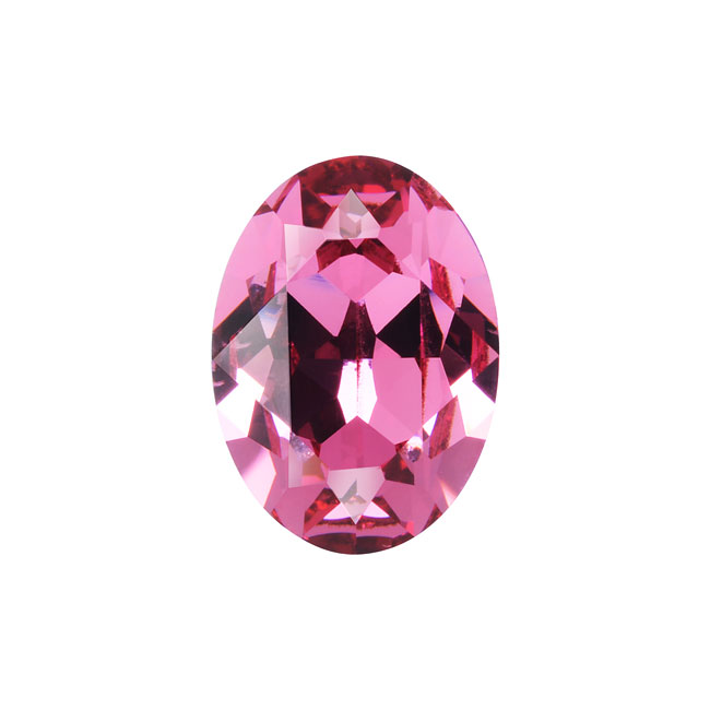 Swarovski Crystal, #4120 Oval Fancy Stones 18x13mm, 1 Piece, Rose F