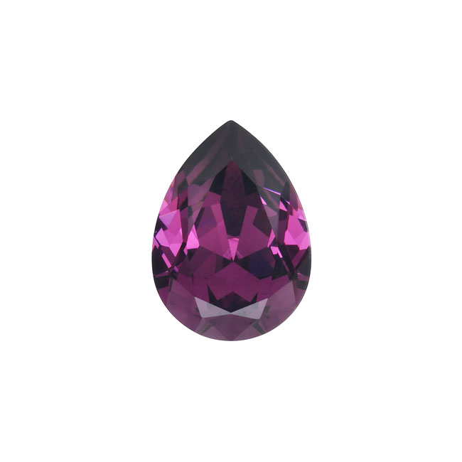 Swarovski Crystal, #4320 Pear Fancy Stone 14x10mm, 1 Piece, Amethyst F