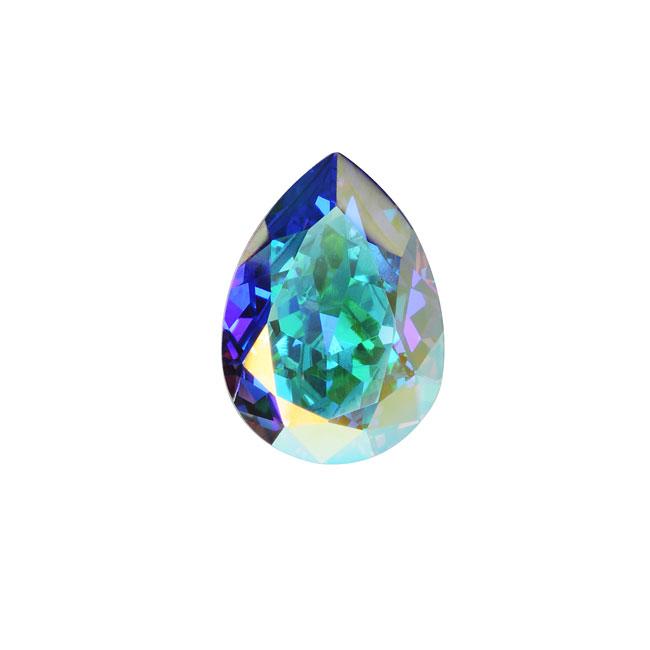 Swarovski Crystal, #4320 Pear Fancy Stone 14x10mm, 1 Piece, Crystal AB F
