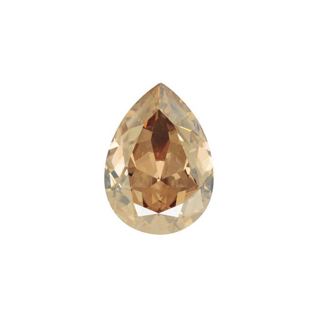 Swarovski Crystal, #4320 Pear Fancy Stone 14x10mm, 1 Piece, Crystal Golden Shadow F