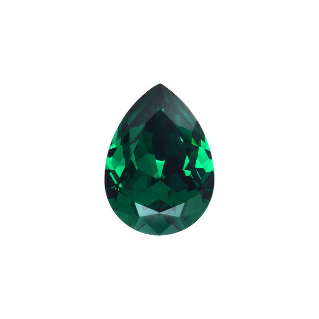 Swarovski Crystal, #4320 Pear Fancy Stone 14x10mm, 1 Piece, Emerald F