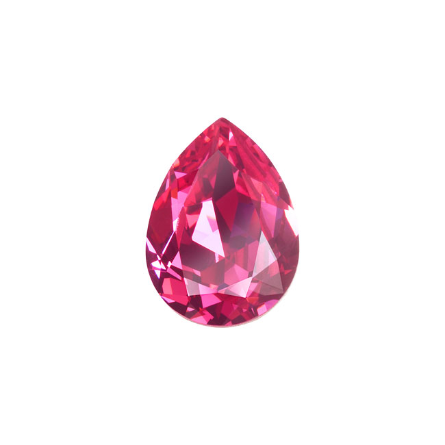 Swarovski Crystal, #4320 Pear Fancy Stone 14x10mm, 1 Piece, Rose F