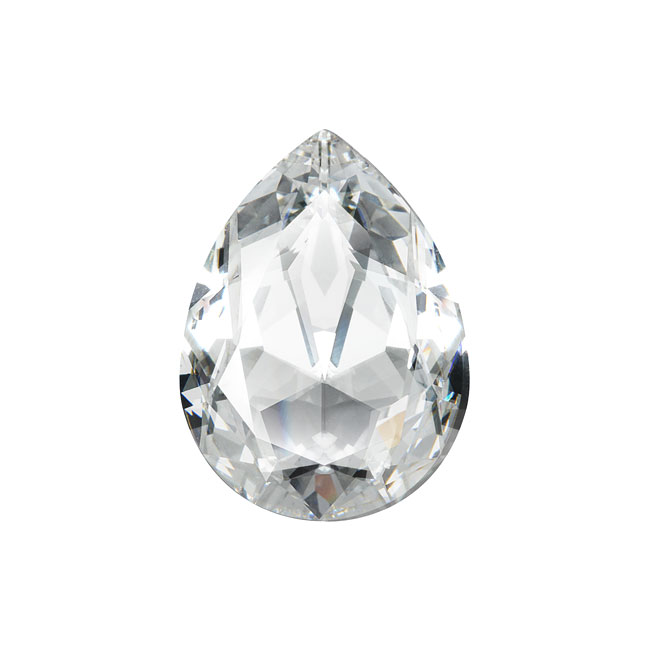 Swarovski Crystal, #4320 Pear Fancy Stone 18x13mm, 1 Piece, Crystal F