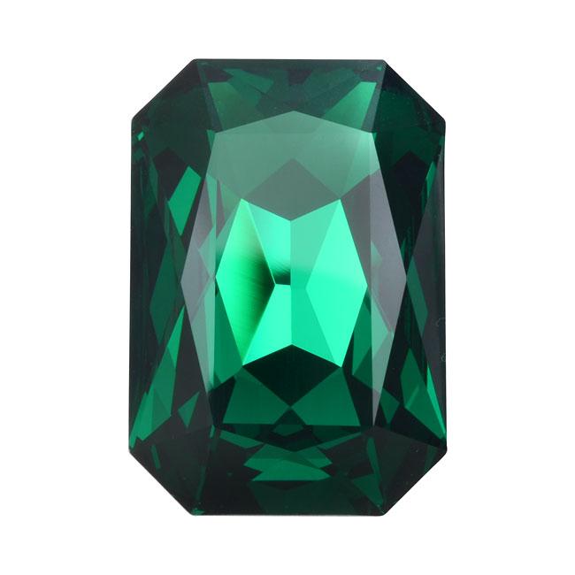 Swarovski Crystal, #4627 Octagon Fancy Stone 27x18.5mm, 1 Piece, Emerald F
