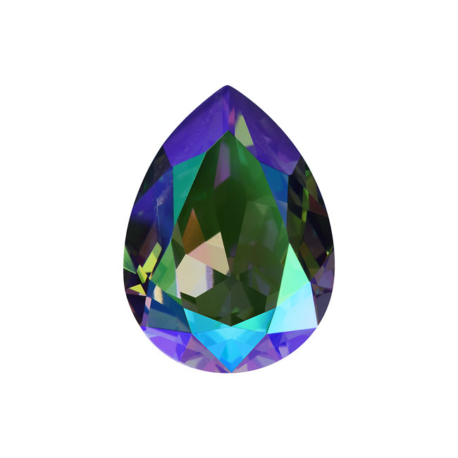 Swarovski Crystal, #4320 Pear Fancy Stone 18x13mm, 1 Piece, Crystal Paradise Shine F