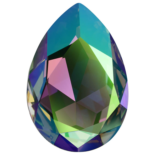 Swarovski Crystal, #4327 Pear Fancy Stone 30x20mm, 1 Piece, Crystal Paradise Shine F