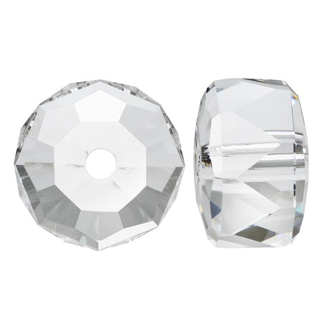 Swarovski Crystal, #5045 Rondelle Beads 6mm, 6 Pieces, Crystal