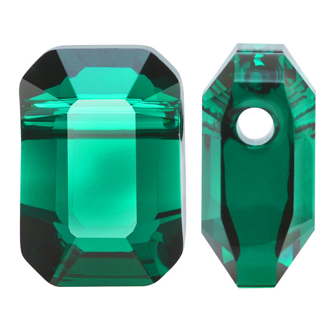 Swarovski Crystal, #5514 Pendulum Beads 10x7mm, 2 Pieces, Emerald