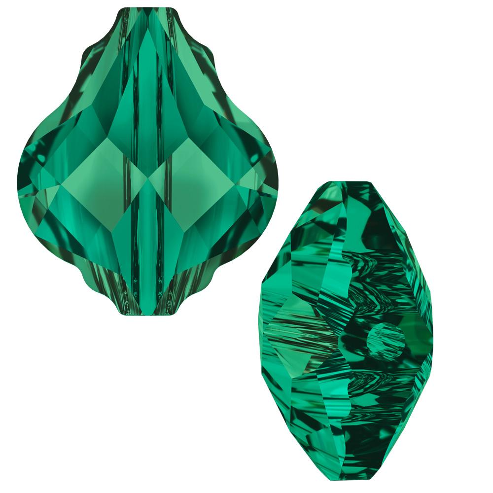 Swarovski Crystal, #5058 Baroque Bead 14mm, 1 Piece, Emerald