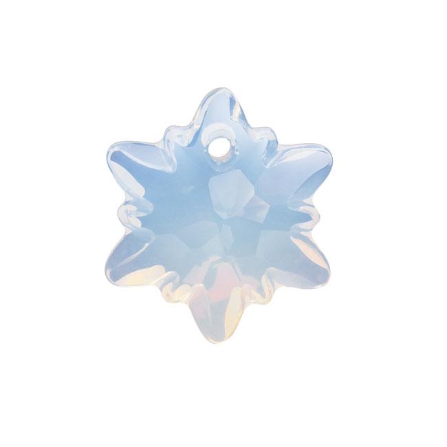 Swarovski Crystal, 6748 Edelweiss Pendant 14mm, 1 Piece, White Opal