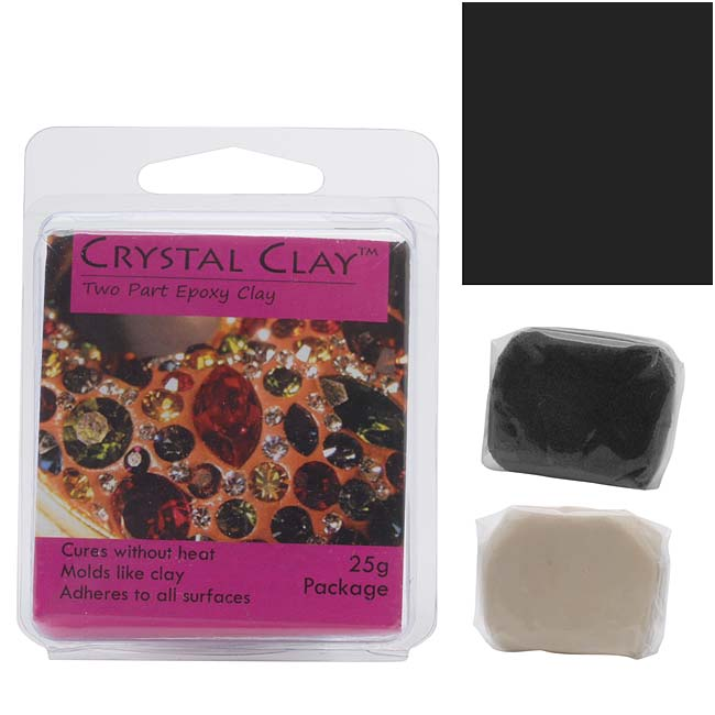Crystal Clay 2-Part Epoxy Clay Kit 'Black' 25 Grams