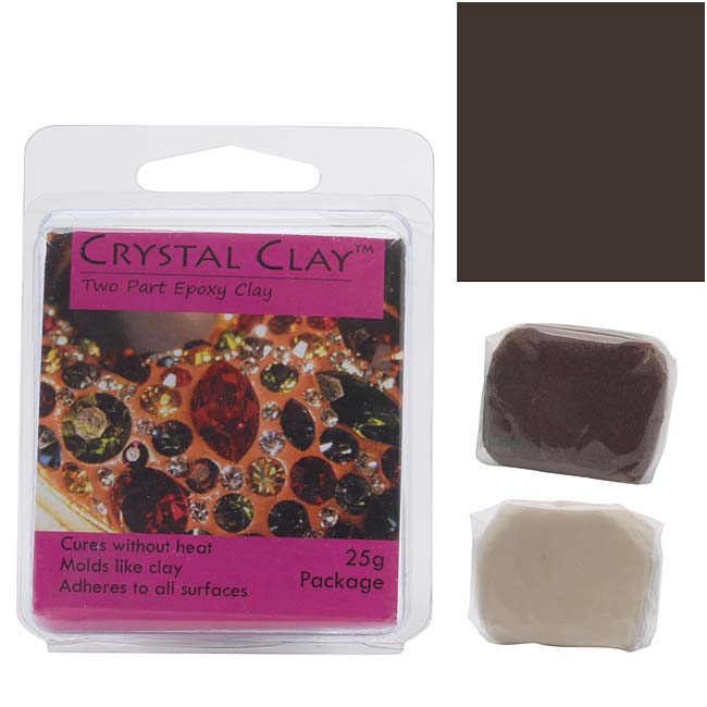 Crystal Clay 2-Part Epoxy Clay Kit 'Dark Brown' 25 Grams