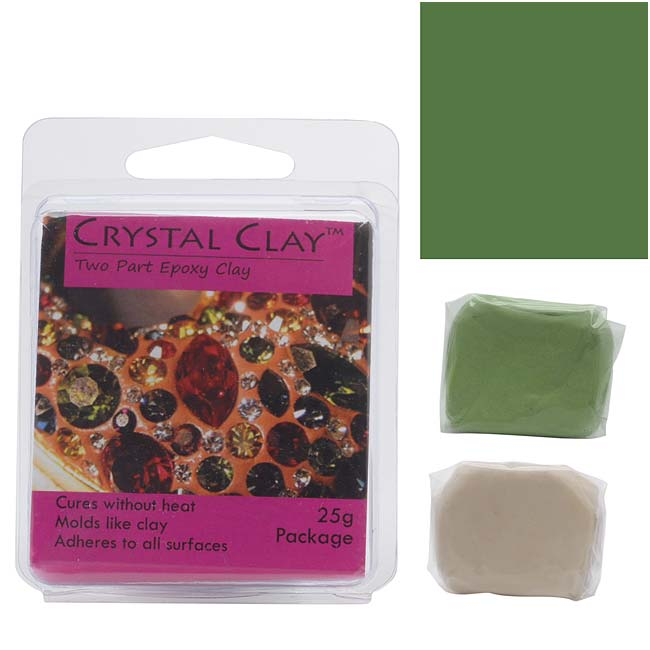 Crystal Clay 2-Part Epoxy Clay Kit 'Sage' 25 Grams