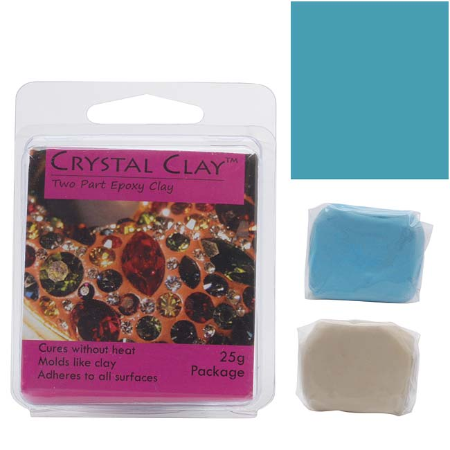 Crystal Clay 2-Part Epoxy Clay Kit 'Turquoise' 25 Grams