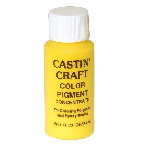 CASTIN CRAFT Casting Epoxy Resin Opaque Yellow Pigment Dye 1 Oz
