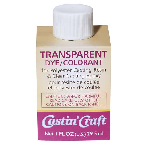CASTIN CRAFT Casting Epoxy Resin Transparent Yellow Pigment Dye 1 Oz