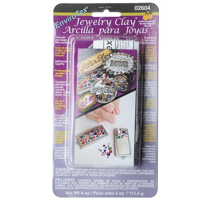 Envirotex Jeweler's Grade 2-Part Jewelry Clay - 4 oz Kit