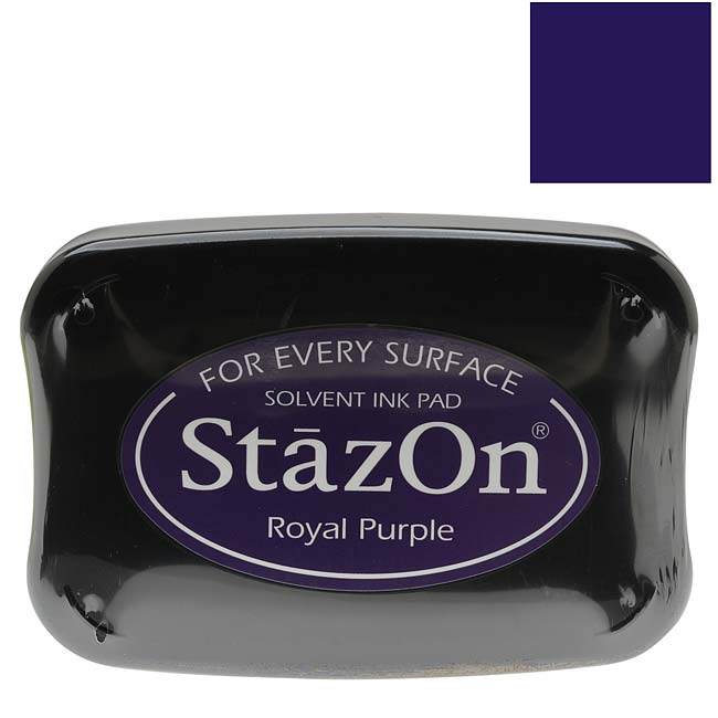 Tsukineko StazOn Ink Pad For Stamps - Royal Purple Color