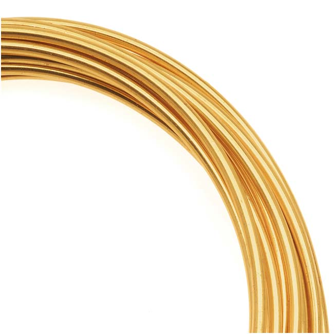 Artistic craft wire gold color brass non tarnish 14 gauge for 10 gauge craft wire