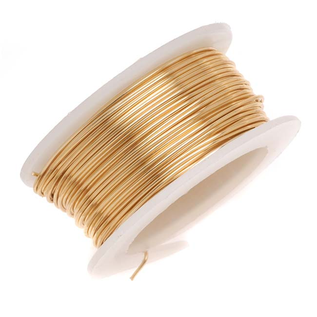 Artistic Wire, Copper Craft Wire 20 Gauge Thick, 6 Yard Spool, Tarnish Resistant Brass