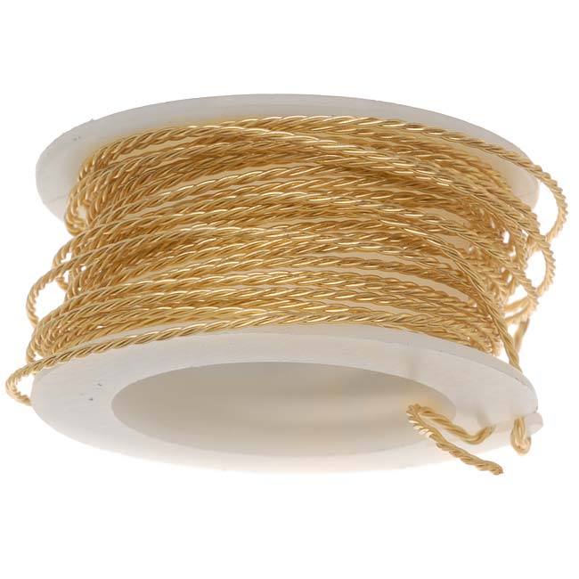 Artistic Wire, Twisted Craft Wire 20 Gauge Thick, 3 Yard Spool, Tarnish Resistant Brass